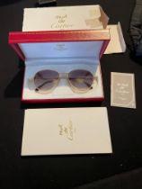 Vintage Must De Cartier Gold and Diamond Sunglasses