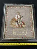 Vintage Cross Stitch Sampler Dated 1872
