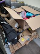 Pallet to contain Various Sporting Items – Grade U - Approx. RRP £730