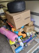Pallet to contain Various Sporting Items – Grade U - Approx. RRP £1114