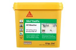 2 x 14 kg Sika Fast Fix All Weather Self Setting Jointing Compound DARK BUFF