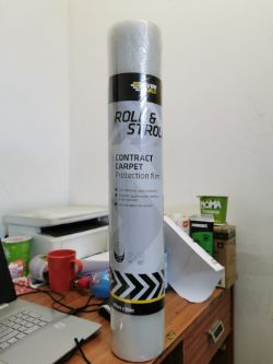 2 x EVER BUILD Roll & Stroll Contract Carpet Protection Film 60 cm x 50 m