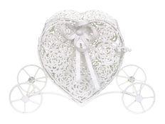 Gorgeous Decorative White Metal Wedding Heart Carriage. RRP £44.99