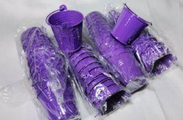 48x Violet Metal Decorative Pails. RRP £72