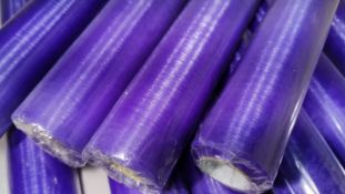 10 Rolls of 10m Lavender Sheer Organza Material. RRP £70