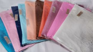 Variety of 10 Coloured Pashmina Scarves. RRP £200