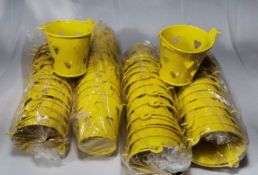 48x Yellow with Hearts Metal Decorative Pails. RRP £72