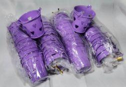 48x Lavender with Hearts Metal Decorative Pails. RRP £72