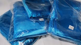 100 (4 packs of 25) Turquoise Satin Wedding Chair Sashes. RRP £100