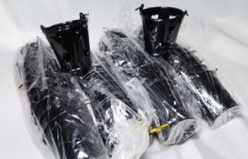 48x Black with Hearts Metal Decorative Pails. RRP £72