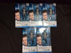 5x Rooster Teeth Lazer Team Hagan Figurine