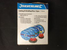 Silverline Cutting & Grinding Discs 12pce 115mm