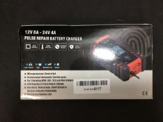 Pulse Repair Battery Charger 12V 8A-24V 4A