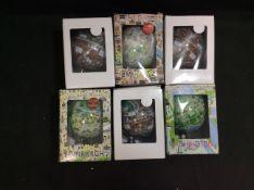 6x Mixed Mini Globes (colours may vary)