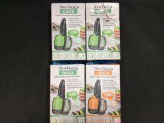4x JML Nicer Dicer Handheld Chopper, Slicer, Dicer and Wedger (3 Green, 1 Orange)