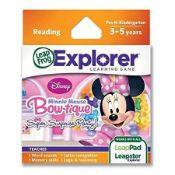 (R14E) 8x Leap Frog Explorer Learning Game Reading – Disney Minnie Mouse Bow-tique Super Surprise P