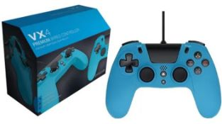 (R14D) 6x Gioteck VX4 Premium Wired Controller For PS4 & PC RRP £20 each. (6x Teal)