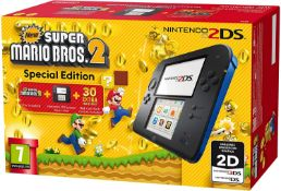 (R14B) 1x Nintendo 2DS Super Mario Bros 2 Special Edition Console. Unit Opened For Contents. All Co