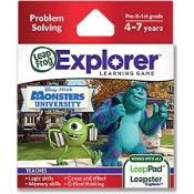 (R14E) 7x Leap Frog Explorer Learning Game Problem Solving – Disney Pixar Monsters University. (All