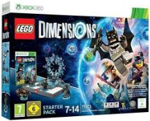 (R14B) 1x Xbox 360 Lego Dimensions Starter Pack 71173. Box Open On One Side – Contents Removed For