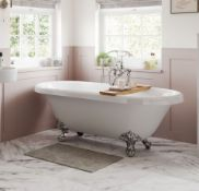 New (G7) 1690mm Freestanding White Bath With Chrome Feet. Richmond Freestanding White Bath Is...