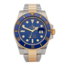 Rolex Submariner Date 18K Yellow Gold & Stainless Steel Watch 116613LB