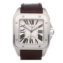 Cartier Santos 100 Large Stainless Steel Watch W20073X8 or 2856