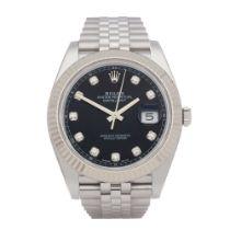 Rolex Datejust 41 Diamond Stainless Steel Watch 126334