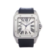Cartier Santos 100 Stainless Steel Watch 2656 or W20073X8