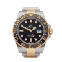 Rolex GMT-Master II 18K Yellow Gold & Stainless Steel Watch 116713LN