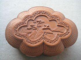 Vintage Carved Japanese Wooden Box