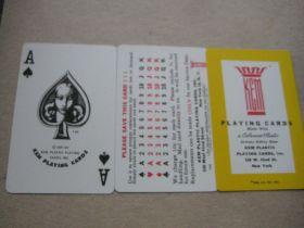 Vintage Twin Pack Set of Kem Playing Cards, Cased, Complete Set