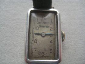 Ladies Silver 15 Jewels John Morley of Bradford Cased Wrist Watch