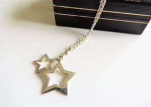 Sterling Silver Stars Pendant Necklace