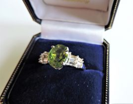 Sterling Silver 2.2ct Peridot Ring New with Gift Box