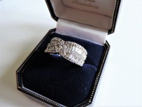 Sterling Silver White Sapphire Ring New with Gift Box