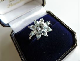 Sterling Silver 1.8 ct Blue Topaz Ring New with Gift Box