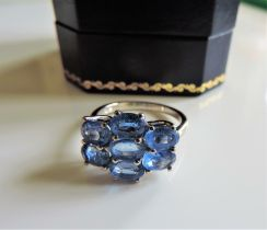 Sterling Silver 2.8 ct Tanzanite Ring New with Gift Box