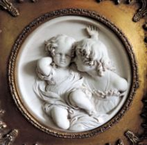 Edward William Wyon Plaque of The Calmady Children