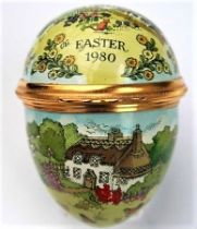 Vintage Halcyon Days Enamels Easter Egg Trinket Box 1980