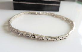 Vintage Sterling Silver Greek Key Bracelet