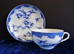 Antique Oriental Teacup and Saucer