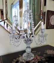 Vintage Bohemian Crystal Candelabra