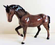 Vintage Beswick Porcelain Horse Figurine 21cm wide