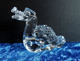 Baccarat Crystal Dragon Paperweight Figurine