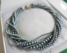 Vintage Multi Strand Pearl Necklace