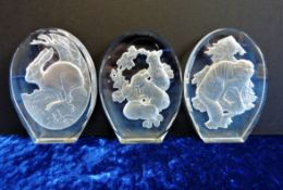 Phillip Nathan for Danbury Mint Crystal Sculptures