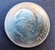 Uncirculated 1965 Winston Churchill Crown Coin