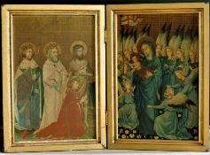 The Wilton Diptych Altarpiece 73cm Wide 52cm High