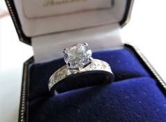 Sterling Silver Solitaire Gemstone Ring
